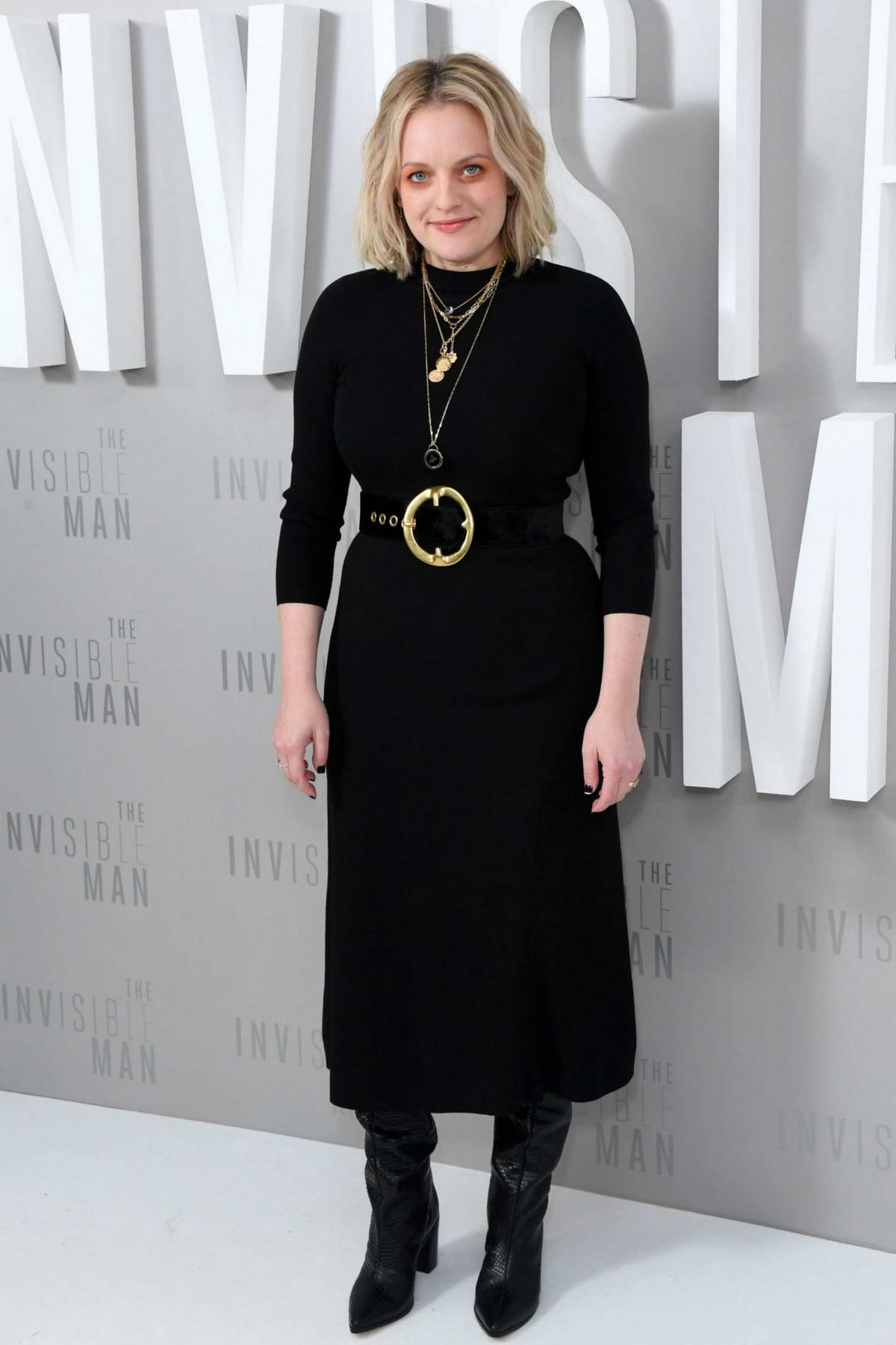 Elisabeth Moss attends UK Premiere of 'The Invisible Man' in London, UK