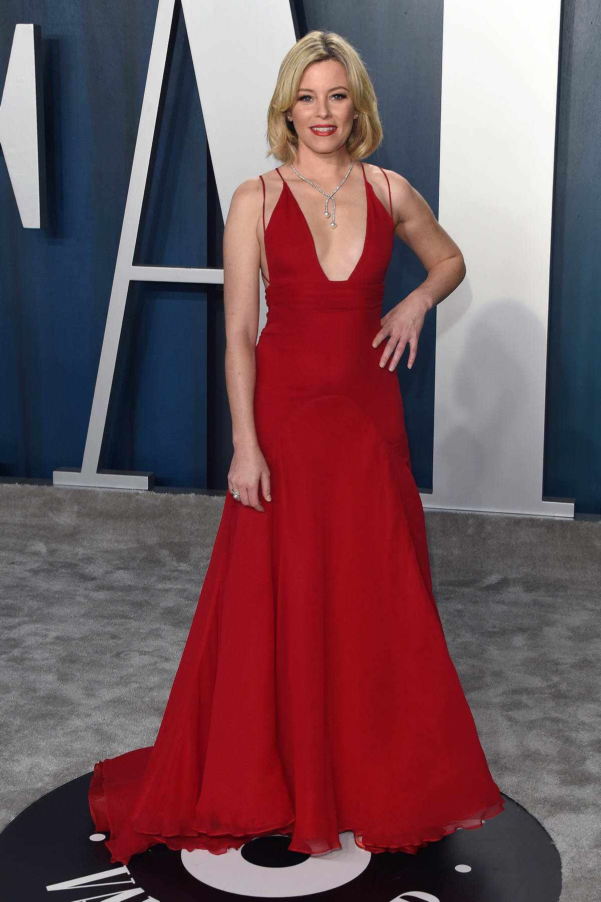 attends the 2020 Vanity Fair Oscar Party at Wallis Annenberg Center for the Performing Arts in Los Angeles