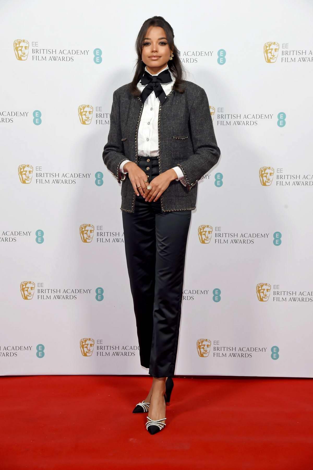 Ella Balinska attends the EE British Academy Film Awards 2020 Nominees Party in London, UK