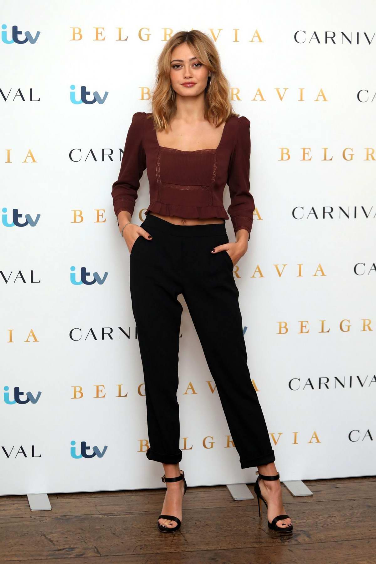 Ella Purnell attends 'Belgravia' Photocall in London, UK