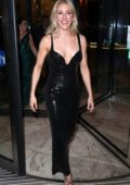 Ellie Goulding seen leaving the BRIT Awards 2020 after-party at the InterContinental Hotel in London, UK