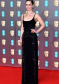 Emilia Clarke attends the 73rd EE British Academy Film Awards at Royal Albert Hall in London, UK