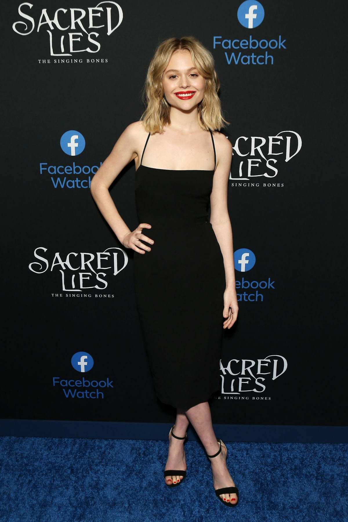 Emily Alyn Lind attends the Premiere of 'Sacred Lies: The Singing Bones' in Los Angeles