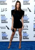 Emily Ratajkowski attends the 2020 Film Independent Spirit Awards at The Barker Hangar in Santa Monica, California