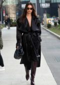 Emily Ratajkowski looks ultra chic in all-black while out during the Milan Fashion Week 2020 in Milan, Italy