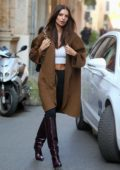 Emily Ratajkowski seen out and about during Milan Fashion Week 2020 in Milan, Italy