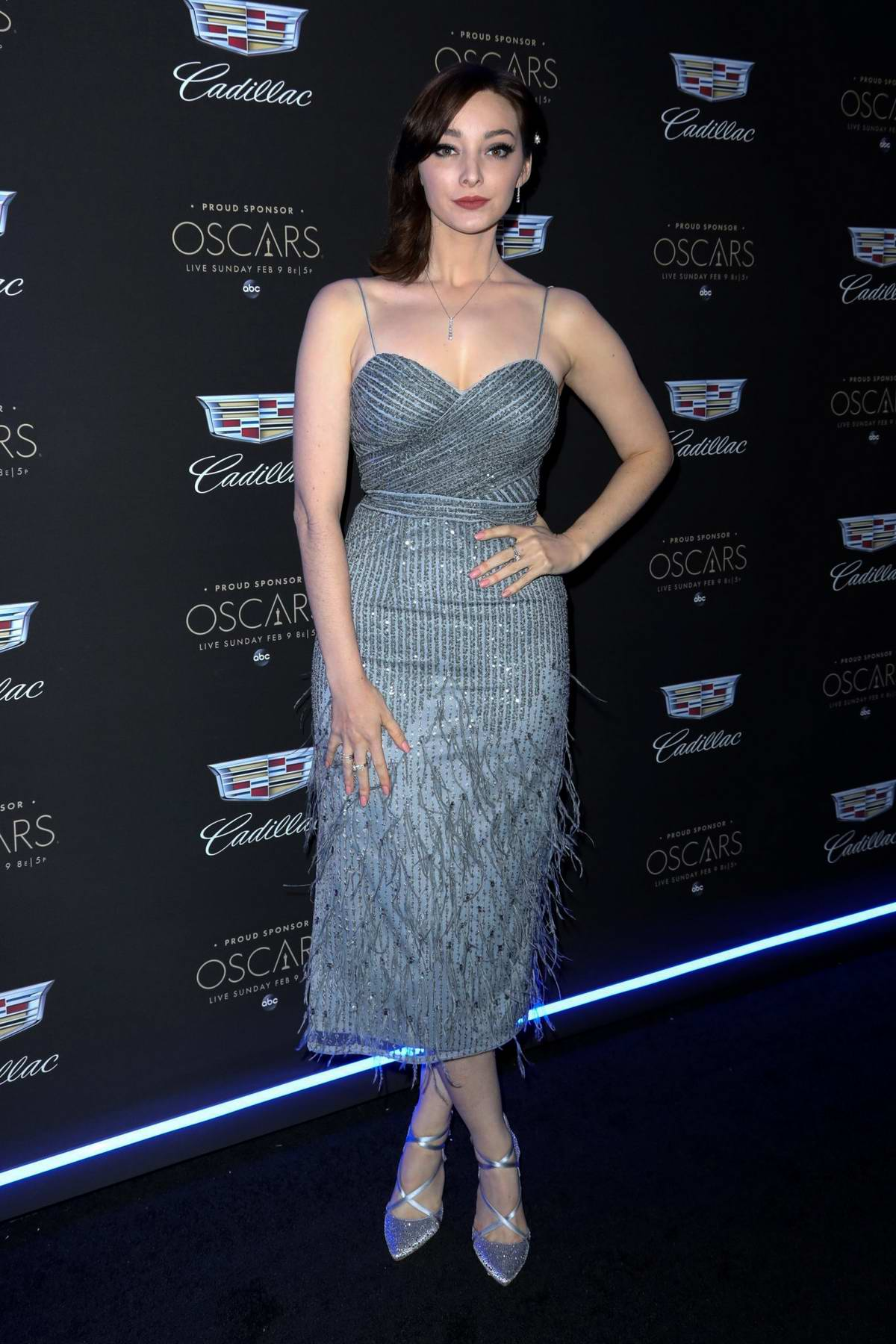 Emma Dumont attends as Cadillac Celebrates the 92nd Annual Academy Awards in Los Angeles