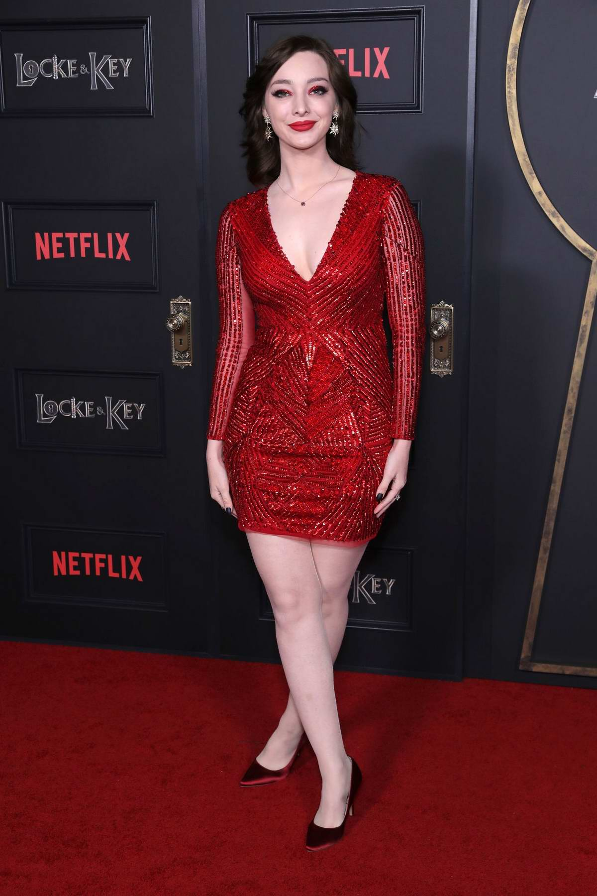 Emma Dumont attends Netflix's 'Locke & Key' Series Premiere in Hollywood, California
