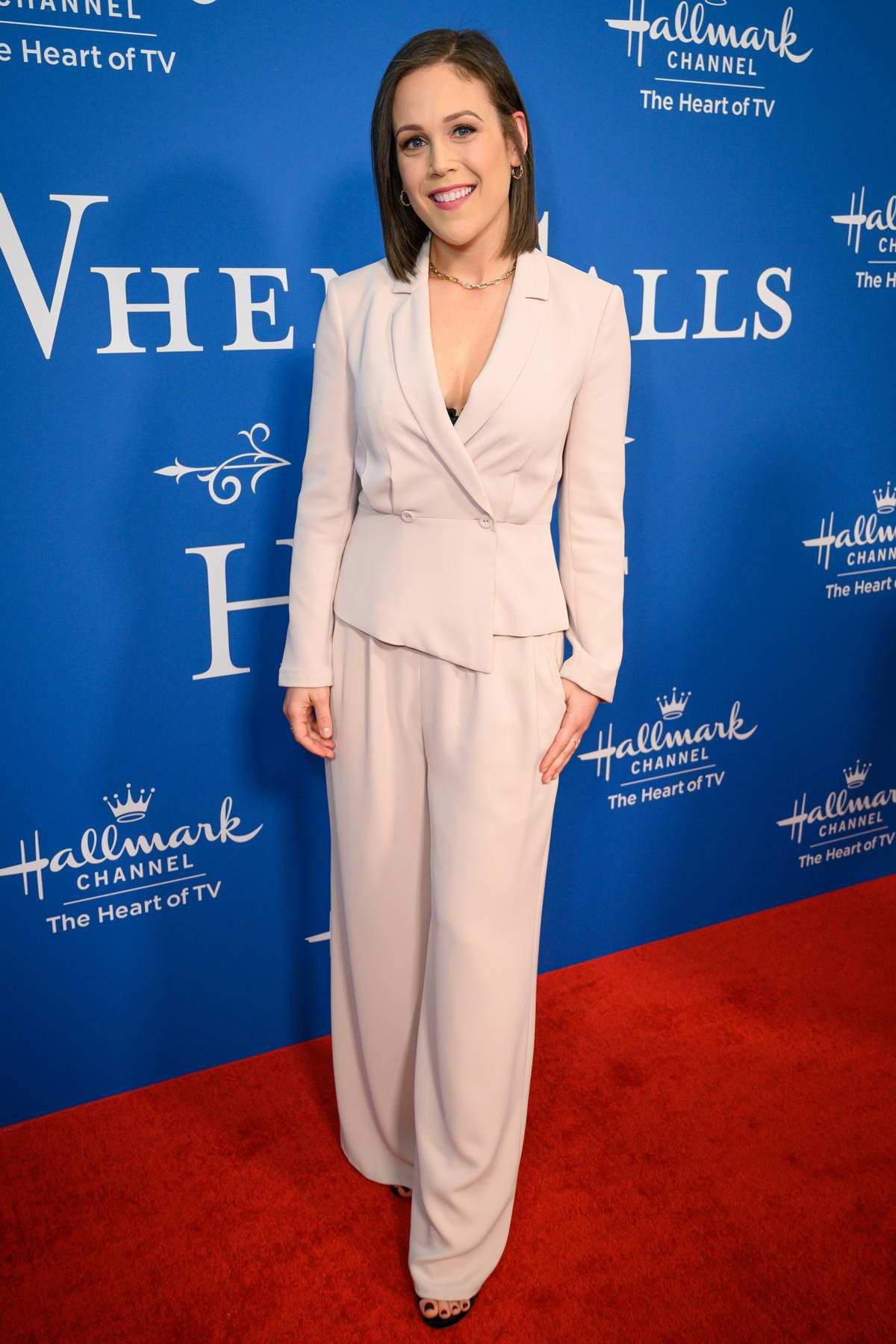Erin Krakow attends 'When Calls The Heart' Season 7 Celebration Dinner at the Four Seasons Hotel in Beverly Hills, California