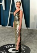 Florence Pugh attends the 2020 Vanity Fair Oscar Party at Wallis Annenberg Center for the Performing Arts in Los Angeles