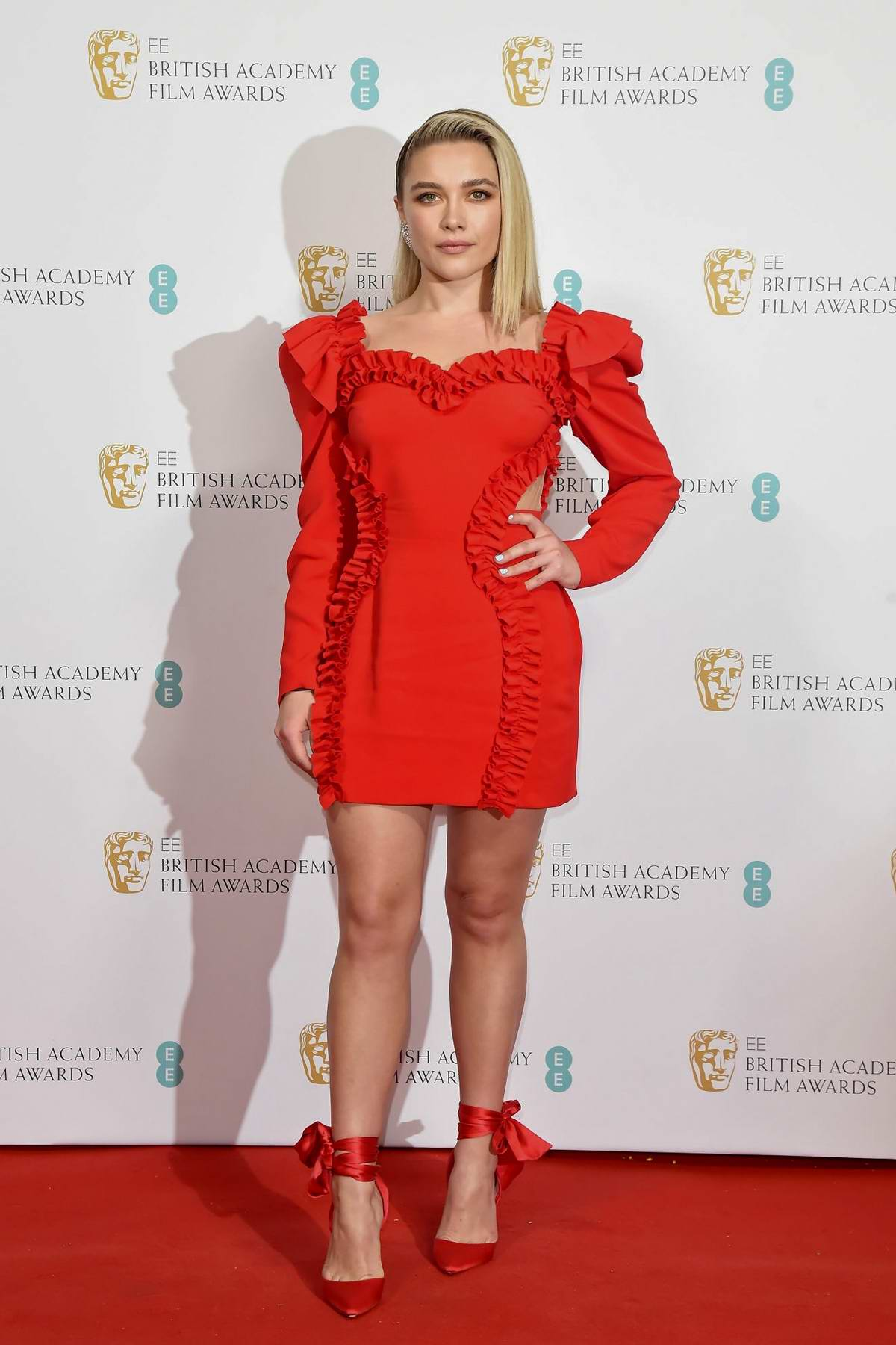 Florence Pugh attends the EE British Academy Film Awards 2020 Nominees Party in London, UK