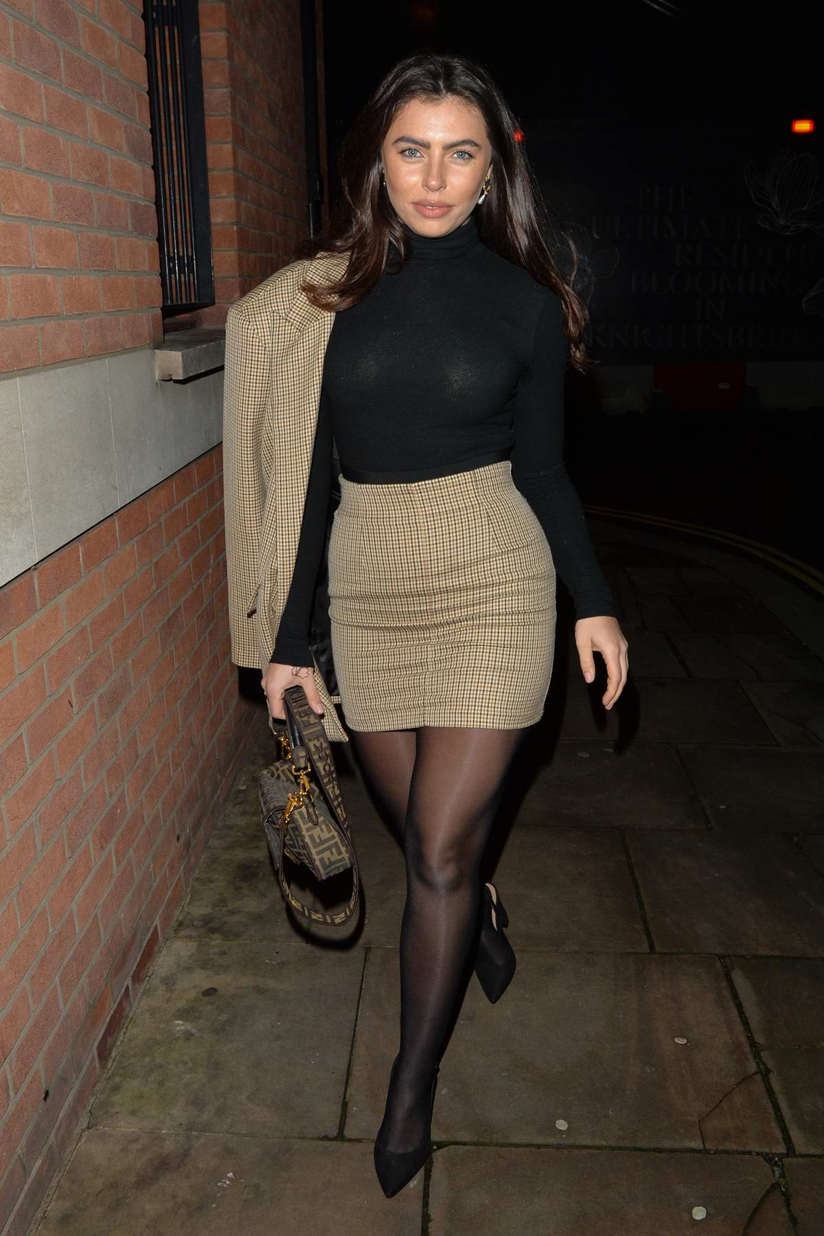 Francesca Allen seen leaving Zuma Resturant in London, UK
