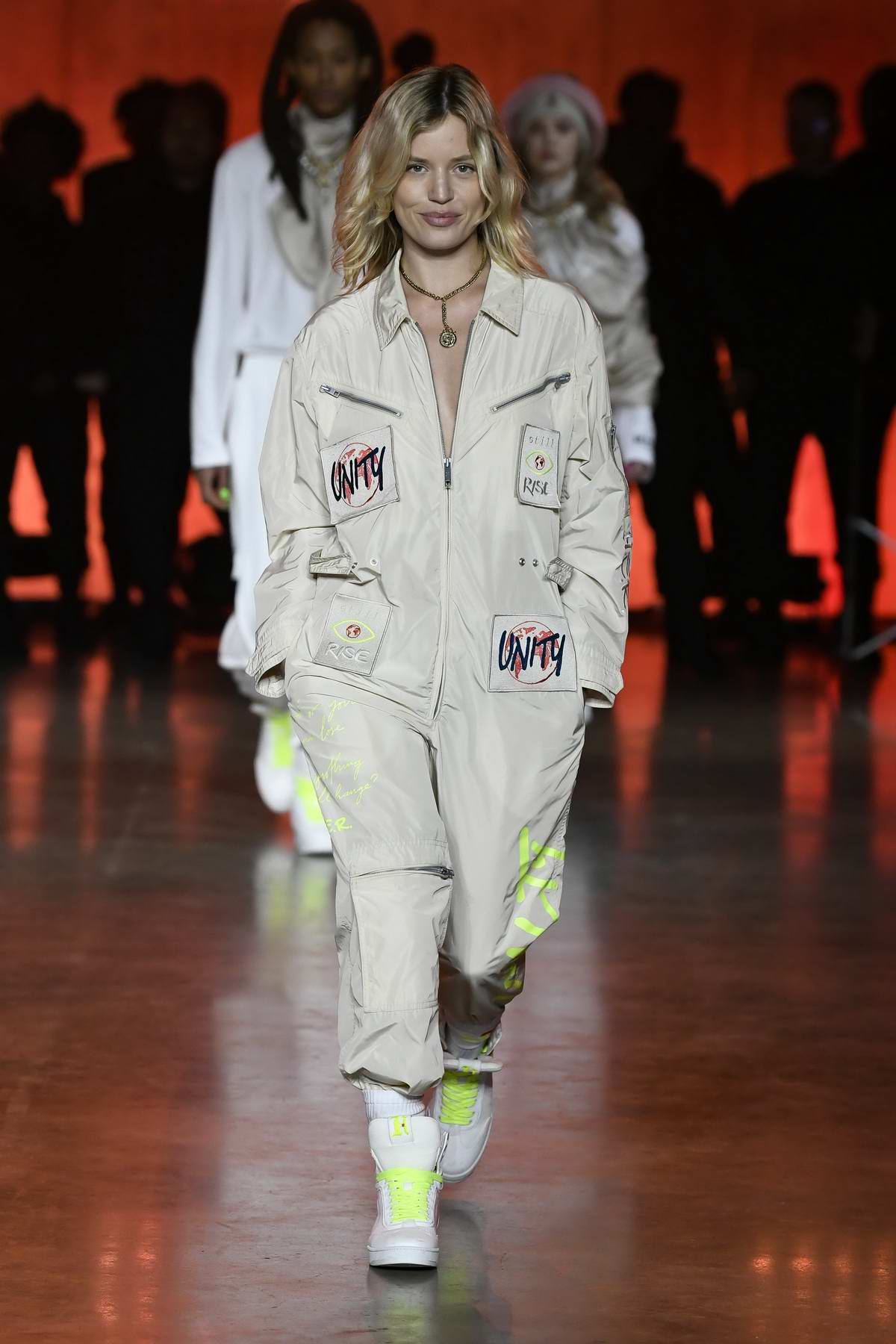 Georgia May Jagger walks the runway at Tommy Hilfiger AW20 show during London Fashion Week in London, UK