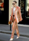 Gigi Hadid rocks a stylish suit as she leaves the Chanel headquarters during Paris Fashion Week 2020 in Paris, France