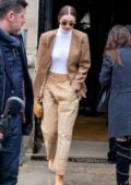 Gigi Hadid seen leaving the Chloe fashion show during Paris Fashion Week 2020 in Paris, France