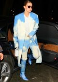 Gigi Hadid turns heads in an 'Off-White' ensemble arriving at the Bacarrat Cristal Bar in Paris, France