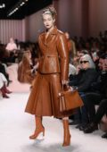 Gigi Hadid walks the runway at Fendi fashion show, F/W 2020 during Milan Fashion Week in Milan, Italy