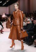 Gigi Hadid walks the runway at Fendi fashion show, F/W 2020 during Milan Fashion Week in Milan, Italy