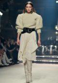 Gigi Hadid walks the runway at the Isabel Marant show, F/W 2020 during Paris Fashion Week in Paris, France