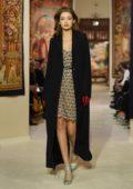 Gigi Hadid walks the runway for Lanvin F/W 2020 fashion show during Paris Fashion Week in Paris, France