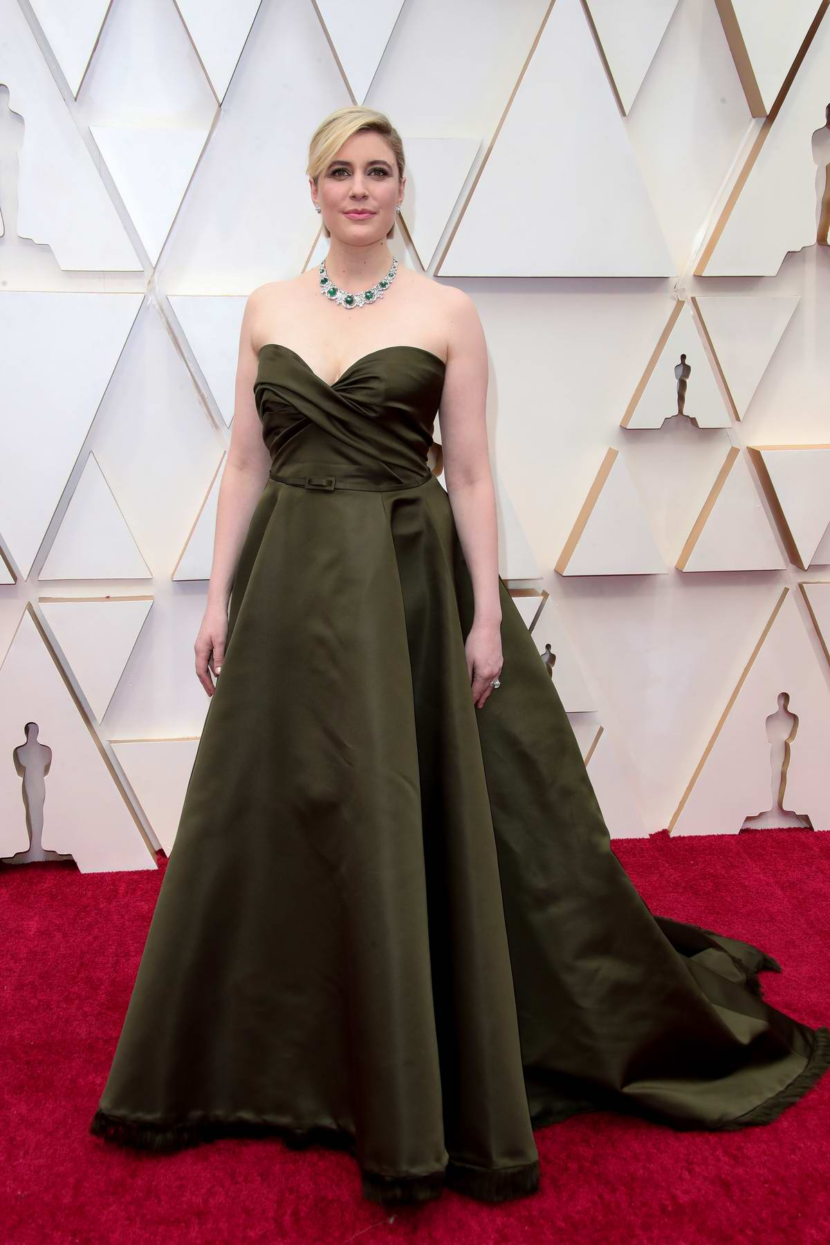 Greta Gerwig attends the 92nd Annual Academy Awards at Dolby Theatre in Los Angeles