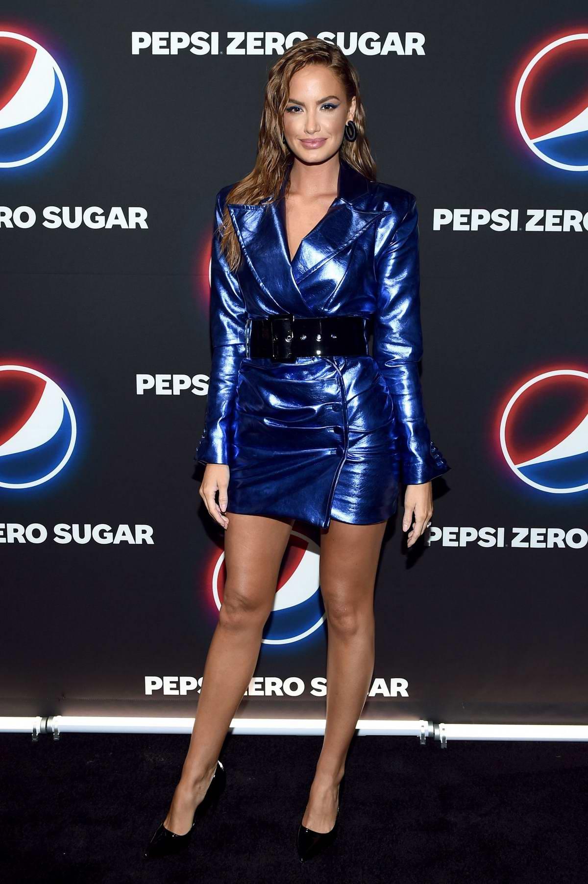 Haley Kalil attends the Pepsi Zero Sugar 2020 Super Bowl LIV Party in Miami, Florida