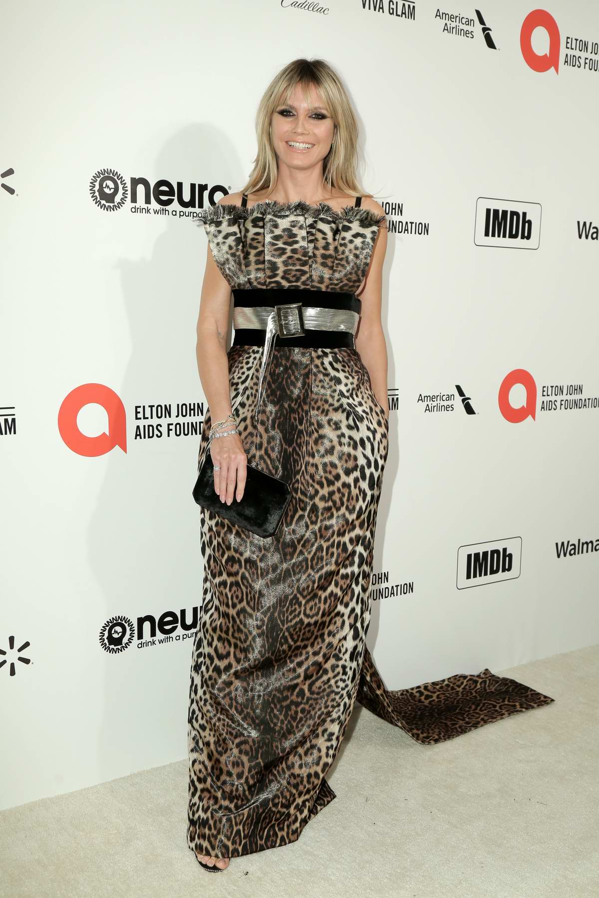 Heidi Klum attends the 28th Annual Elton John AIDS Foundation Academy Awards Viewing Party in West Hollywood, California