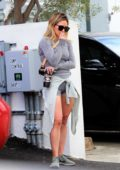 Hilary Duff looks deep in thoughts after wrapping up yoga session in Beverly Hills, California