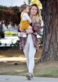 Hilary Duff steps out with her daughter Banks to run a few errands on Valentine's Day in Studio City, California