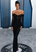 Jasmine Tookes attends the 2020 Vanity Fair Oscar Party at Wallis Annenberg Center for the Performing Arts in Los Angeles