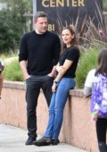 Jennifer Garner and Ben Affleck take their son to a birthday party in Brentwood, California