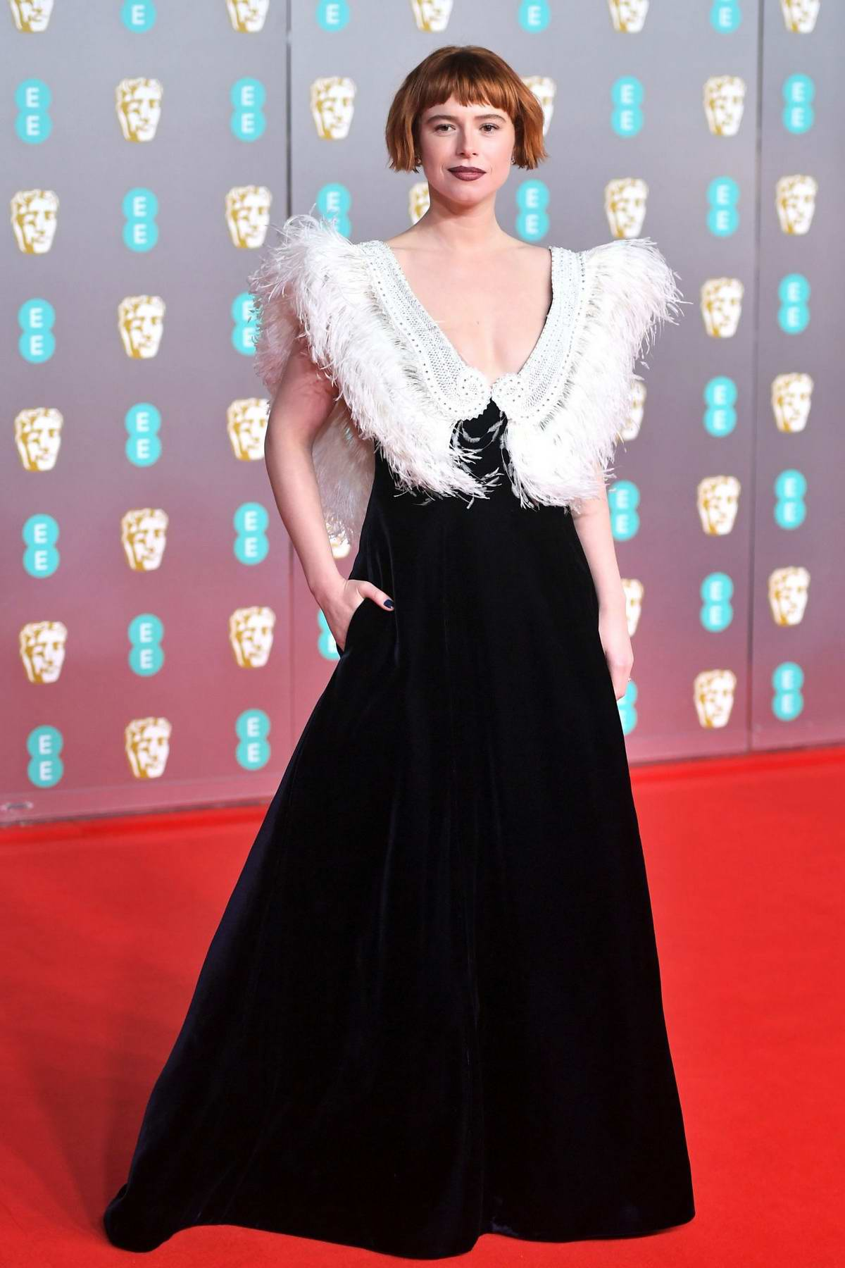 Jessie Buckley attends the 73rd EE British Academy Film Awards at Royal Albert Hall in London, UK