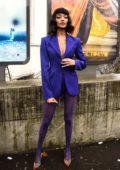Jourdan Dunn attends the Thierry Mugler show, F/W 2020 during Paris Fashion Week in Paris, France