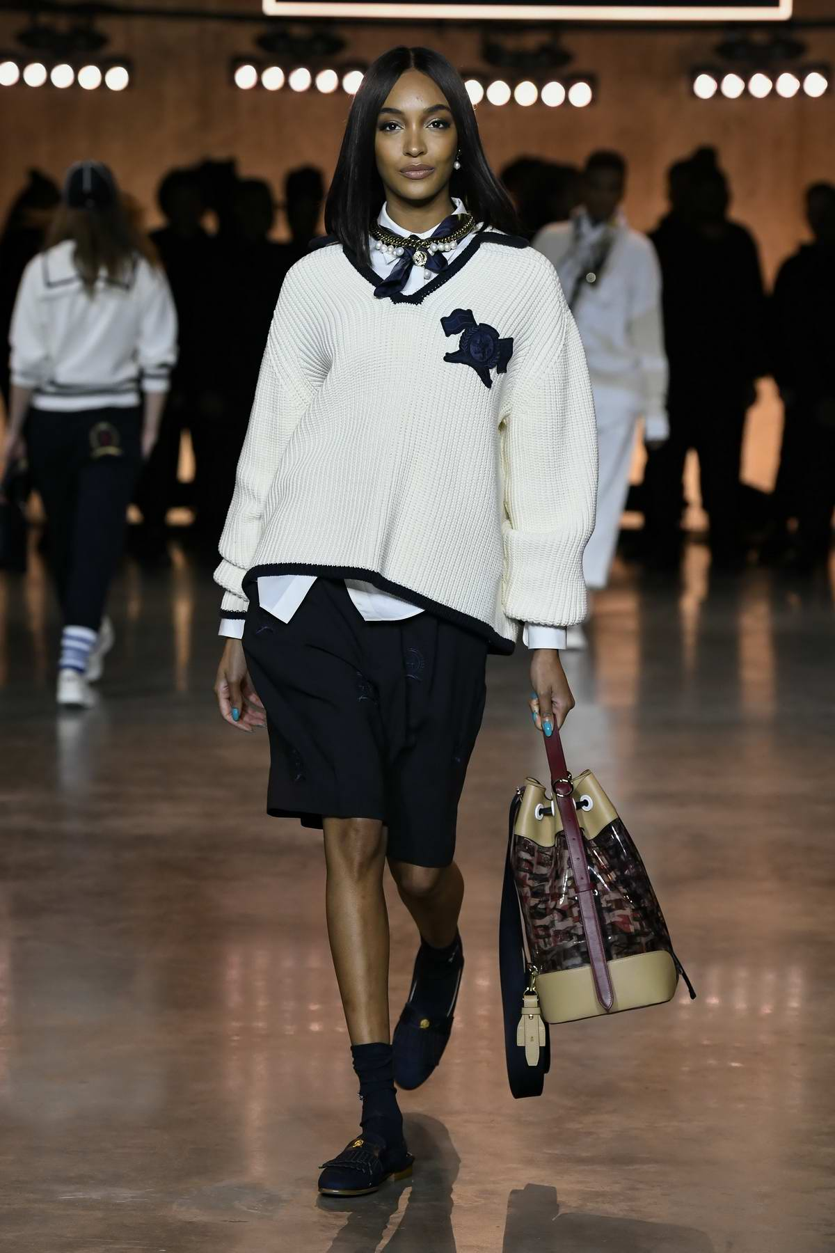 Jourdan Dunn walks the runway at Tommy Hilfiger AW20 show during London Fashion Week in London, UK