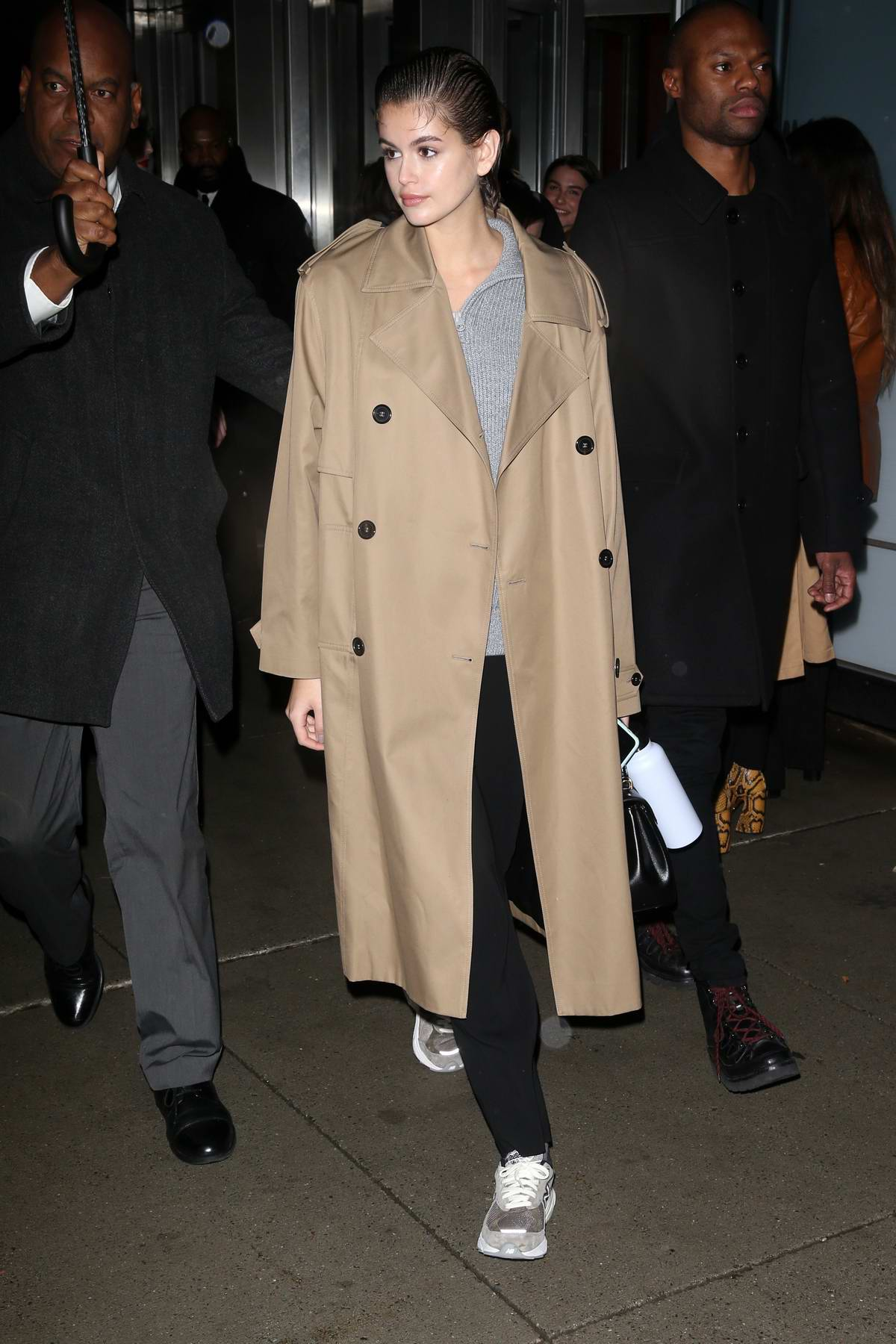 Kaia Gerber seen arriving at the Proenza Schouler show during NYFW 2020 in New York City