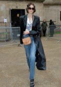 Kaia Gerber seen leaving the Chloe fashion show during Paris Fashion Week 2020 in Paris, France