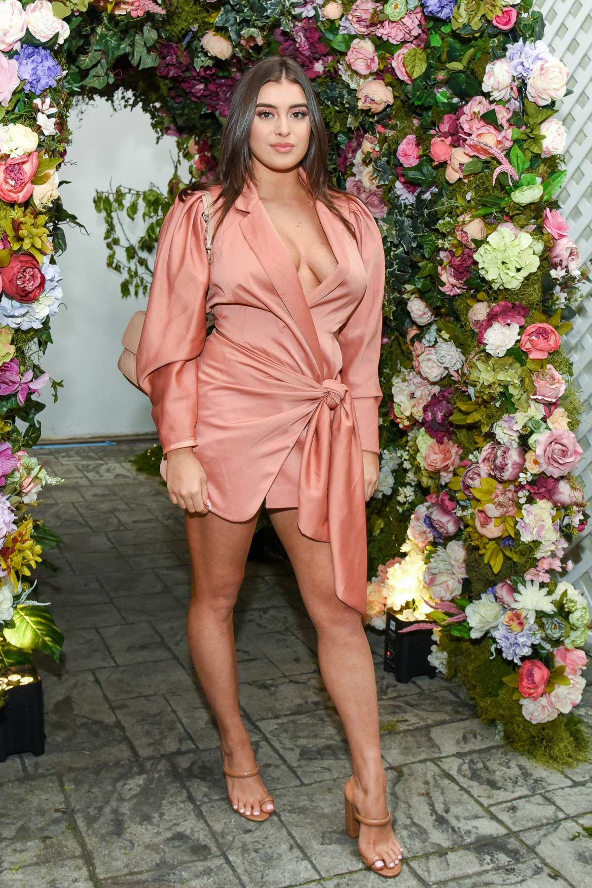 Kalani Hilliker attends Betsey Johnson x Loren Gray Prom Collection Garden Party in West Hollywood, California