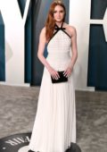 Karen Gillan attends the 2020 Vanity Fair Oscar Party at Wallis Annenberg Center for the Performing Arts in Los Angeles
