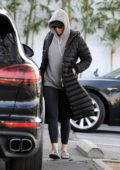 Katy Perry leaves her office looking extra cozy in Los Angeles