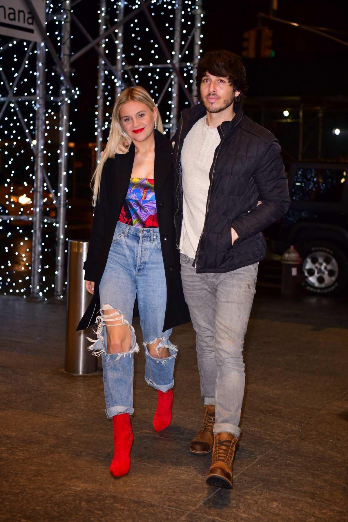 Kelsea Ballerini and Morgan Evans enjoy a date night at Nobu 57 in New York City