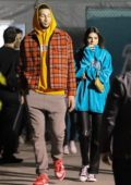 Kendall Jenner and Ben Simmons seen leaving the Super Bowl LIV in Miami, Florida
