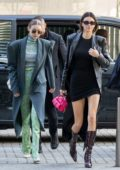 Kendall Jenner and Gigi Hadid step out in style during Milan Fashion Week 2020 in Milan, Italy