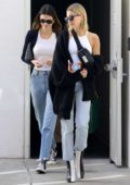 Kendall Jenner and Hailey Bieber head out to breakfast together in West Hollywood, California
