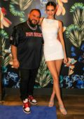 Kendall Jenner attends the Belvedere Game Over party in Miami, Florida
