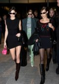 Kendall Jenner, Gigi Hadid and Bella Hadid head for a night out during Milan Fashion Week 2020 in Milan, Italy
