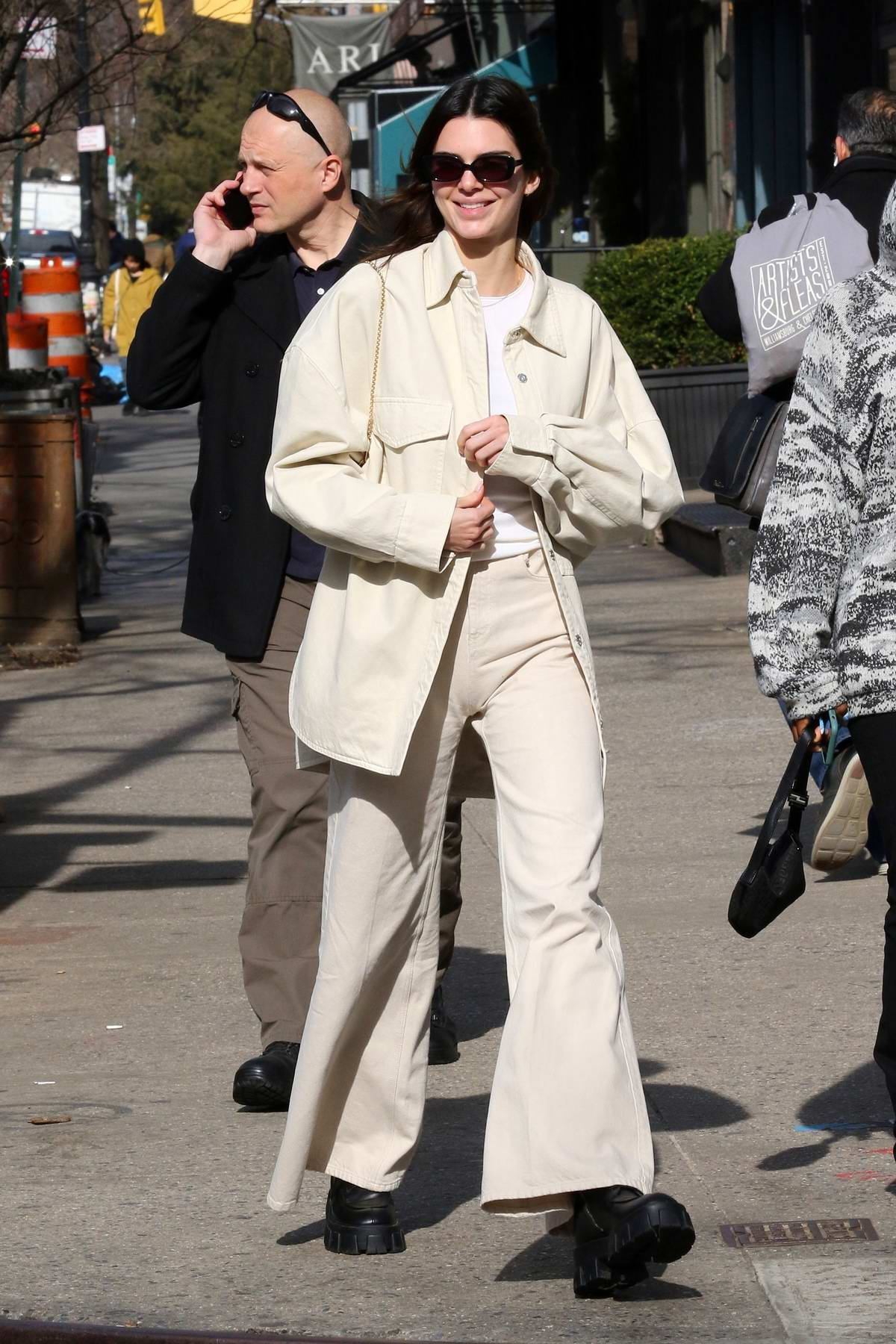 Kendall Jenner looks chic as she steps out for stroll after lunch with friends at Sadelles in New York City