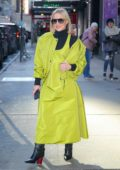 Kristen Bell looks stylish as she rocks a bright neon green outfit while out in New York City