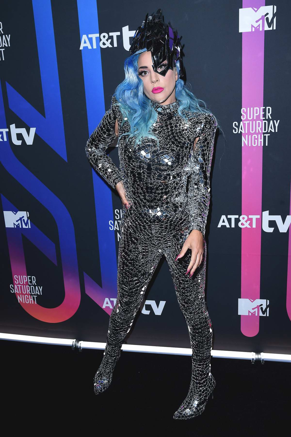 Lady Gaga attends the AT&T TV Super Saturday Night in Miami, Florida
