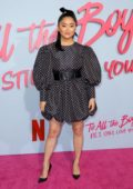 Lana Condor attends the premiere 'To All the Boys: P.S. I Still Love You' in Los Angeles
