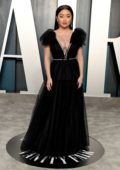 Lana Condor attends the 2020 Vanity Fair Oscar Party at Wallis Annenberg Center for the Performing Arts in Los Angeles